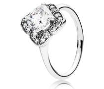 Damen Ring Leuchtende Blüte Silber 48 190966CZ-48