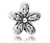 Damen Medaillon-Elemet für Medaillon-Halskette Gänseblümchen Silber onesize 792173CZ