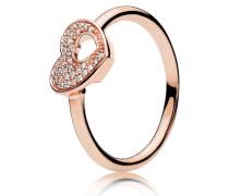 Rose Kombinierbarer Damenring Herz rosegold 48 186550CZ-48