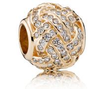 Damen Charm Liebe Gold Cubic Zirconia onesize 750991CZ