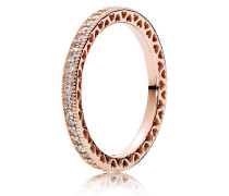 Kombinierbarer Ring  Unendliche Herzen  Rose 180963CZ-48