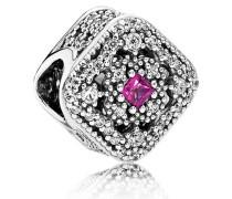 Charm  Geheimnisvoller Schatz  Silber Pink Cubic Zirkonia, Kristall 792013NCC