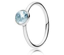 Kombinierbarer Ring  März Tröpfchen  Silber Blau 191012NAB-48