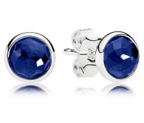 Damenohrstecker Tröpfchen Blau Silber Synthetic Sapphire onesize 290738SSA
