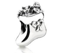 Damen Charm Weihnachtsstrumpf Silber onesize 791038