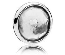 Damen Medaillon-Elemet für Medaillon-Halskette Tröpfchen Silber onesize 792175RC