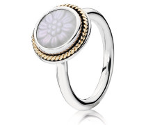 Kombinierbarer Ring  Mutter der Perle  Bicolor Lila 190859MOP-48