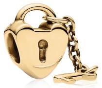 Schlüssel zu meinem Herzen golden Charm 750341