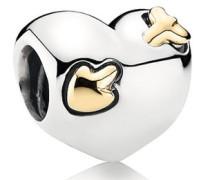 Damen Charm Herz und Pfeil Bicolor Gold onesize 791171