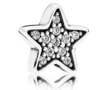 Damen Medaillon-Elemet für Medaillon-Halskette Stern Silber onesize 792157CZ