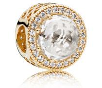 Damen Charm Strahlenkranz der Herzen Gold Cubic Zirconia onesize 750843CZ