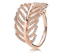 Ring  Funkelnde Feder  Rose 180886CZ-48