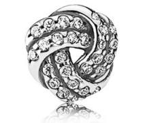 Damen Medaillon-Elemet für Medaillon-Halskette Liebe Silber onesize 792179CZ