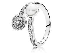 Ring Strahlendes Leuchten Weiß 191044CZ-48