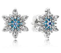 Damen Ohrstecker Schneestern Blau Silber Verschiedene Steine onesize 290590NBLMX