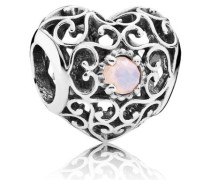 Oktober-Herz Charm Pink Kristall 791784NOP