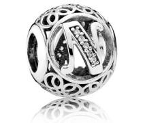 Damen Charm Vintage V Silber Cubic Zirconia onesize 791858CZ