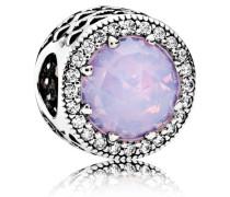 Charm  Schillernd- Strahlenkranz der Herzen  Silber Pink Cubic Zirkonia, Kristall 791725NOP
