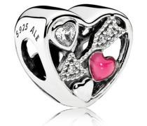 Damen Charm Verliebt Pink Silber Cubic Zirconia onesize 792039CZ