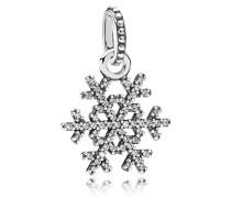 Kettenanhänger Schneeflocke Silber Cubic Zirconia 390354CZ