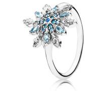 Ring Eisblauer Schneestern Silber Blau 190969NBLMX-48