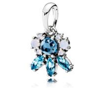 Damenkettenanhänger Eiskristalle Blau Silber Kristall onesize 390391NMBMX