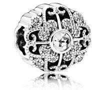 Charm  Zauberhafte Blüte  Silber Cubic Zirkonia 791961CZ