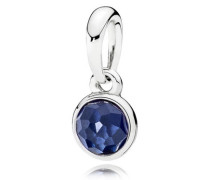 Damenkettenanhänger Tröpfchen Blau Silber synthetischer Saphir onesize 390396SSA