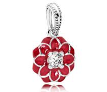 Charm Orientalische Blüte Anhänger Rot Cubic Zirconia 791829CZ