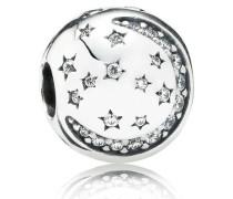 Funkelnde Nacht Clip Silber Cubic Zirconia 791386CZ