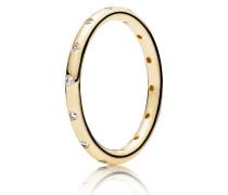 Kombinierbarer Damen Ring Tröpfchen Gold 48 150178CZ-48
