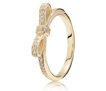 Kombinierbarer Ring Glitzernde Schleife - 150175CZ-48