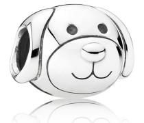 Damen Charm Liebevoller Hund Silber onesize 791707