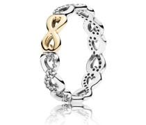Kombinierbarer Damen Ring Verbundene Unendlichkeit Bicolor Gold 48 190948CZ-48