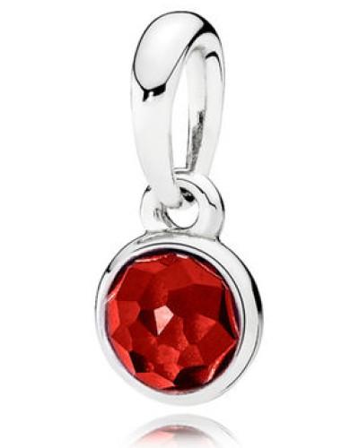Damenkettenanhänger Tröpfchen Rot Silber Synthetischer Rubin onesize 390396SRU