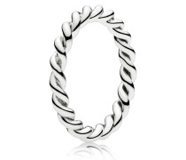 Gedrehter kombinierbarer Ring Silber 190602-58