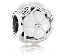 Damen Charm Blüte Weiß Verschiedene Steine onesize 791894MOP