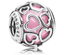 Damen Charm Von Liebe umhüllt Pink Silber onesize 792036PCZ