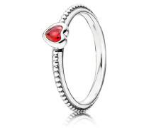 Kombinierbarer Ring Filigraner Herz-Ring Rot 190896SGR-60