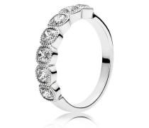 Kombinierbarer Ring  Verführerische Kreise  Silber 191019CZ-48