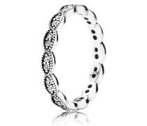Kombinierbarer Ring  Funkelnde Blätter Silber 190923CZ-48