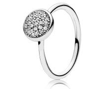 Kombinierbarer Ring  Glänzendes Tröpfchen  Silber 191009CZ-48