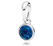 Dezember Tröpfchen Kettenanhänger Blau Kristall 390396NLB