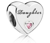 Damen Charm Herz Pink Silber Cubic Zirconia onesize 791726PCZ