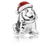 Charm  Weihnachtswelpe  Silber Rot 791769EN39
