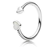 Kombinierbarer Ring Herzen der Liebe Weiß 191045EN23-48