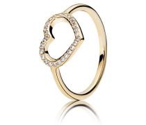 Damenring Herz Gold 48 150179CZ-48