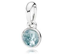 Damenkettenanhänger Tröpfchen Blau Silber Kristall onesize 390396NAB