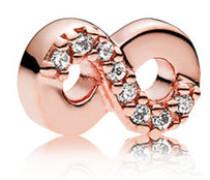 Rose Damen Medaillon-Elemet für Medaillon-Halskette Unendlichkeit rosegold onesize 782178CZ
