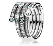 Ring  Schimmernder Ozean  Silber 191002CZF-50